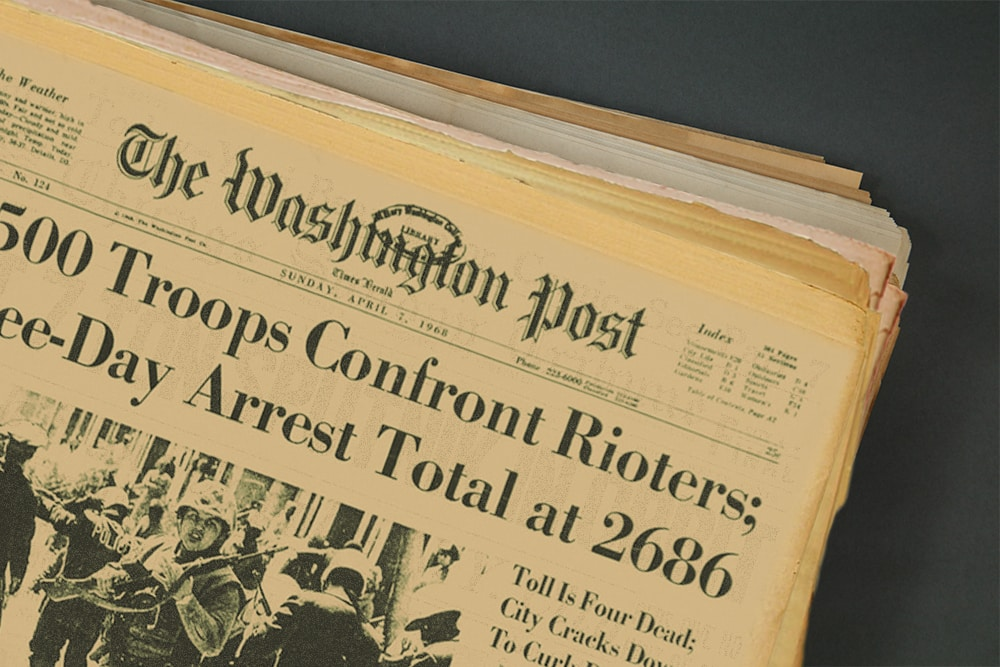 Washington Post Newspaper Title