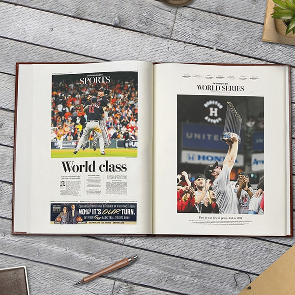 Washington Nationals Newspaper Headlines Book