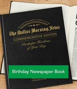 Birthday Newspaper Book